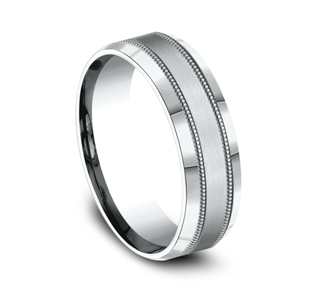 7MM WHITE GOLD COMFORT FIT BAND CF67438W 1 - 7MM WHITE GOLD COMFORT-FIT BAND CF67438W