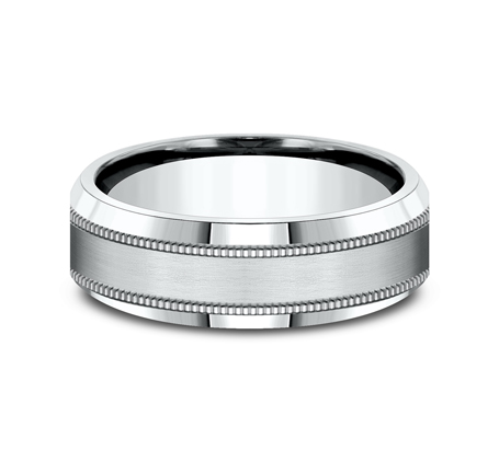 7MM WHITE GOLD COMFORT FIT BAND CF67438W 2 - 7MM WHITE GOLD COMFORT-FIT BAND CF67438W