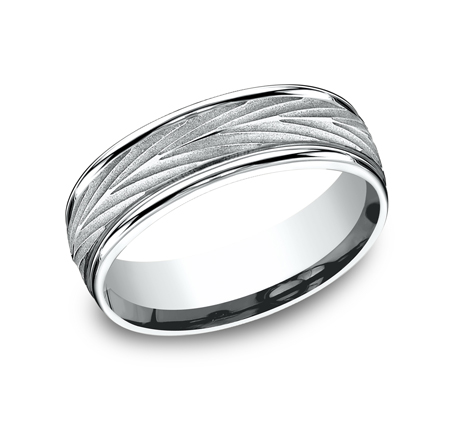 7MM WHITE GOLD COMFORT FIT BAND RECF77337W - 7MM WHITE GOLD COMFORT-FIT BAND RECF77337W