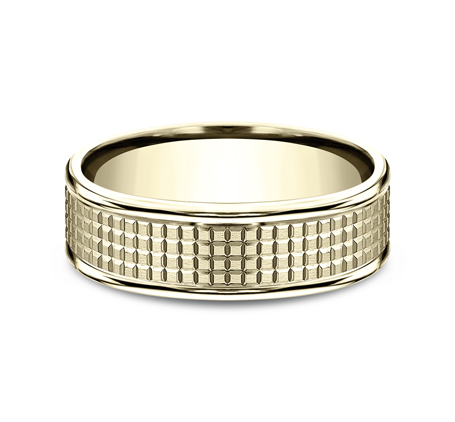 7MM YELLOW GOLD BAND RECF67471Y 2 - 7MM YELLOW GOLD BAND RECF67471Y