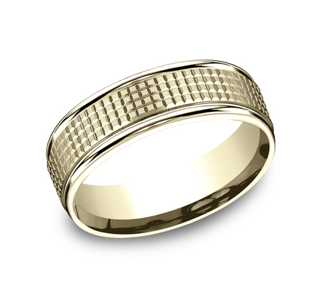 7MM YELLOW GOLD BAND RECF67471Y - 7MM YELLOW GOLD BAND RECF67471Y