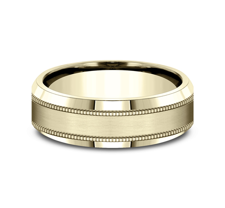 7MM YELLOW GOLD COMFORT FIT BAND CF67438Y 2 1 - 7MM YELLOW GOLD COMFORT-FIT BAND CF67438Y