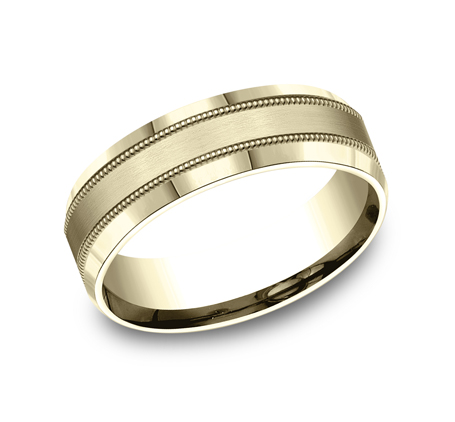 7MM YELLOW GOLD COMFORT FIT BAND CF67438Y - 7MM YELLOW GOLD COMFORT-FIT BAND CF67438Y