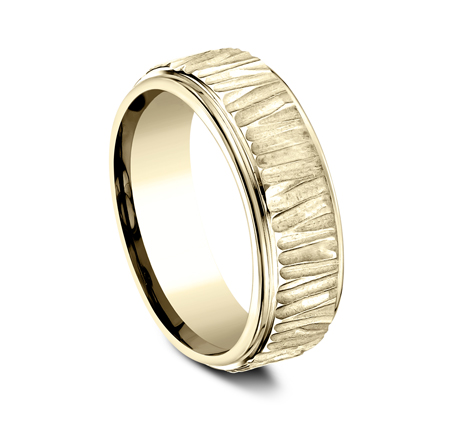8MM 14K YELLOW GOLD DESIGN BAND CF497671Y 1 - 8MM 14K YELLOW GOLD DESIGN BAND CF497671Y