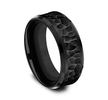 8MM BLACK TITANIUM COMFORT FIT BAND CF368753BKT 1 - 8MM BLACK TITANIUM COMFORT-FIT BAND CF368753BKT