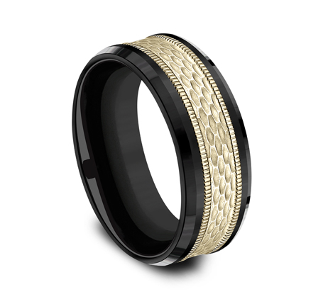 8MM BLACK TITANIUM DESIGN BAND CF378497BKTY 2 - 8MM BLACK TITANIUM DESIGN BAND CF378497BKTY