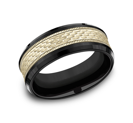 8MM BLACK TITANIUM DESIGN BAND CF378497BKTY - 8MM BLACK TITANIUM DESIGN BAND CF378497BKTY