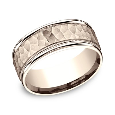 8MM COMFORT FIT CARVED DESIGN BAND CF158309R - 8MM COMFORT-FIT CARVED DESIGN BAND CF158309R