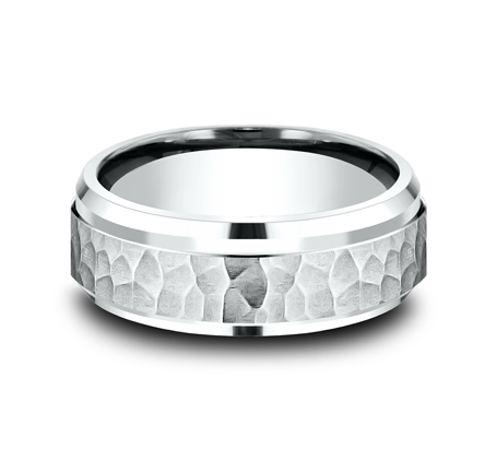 8MM COMFORT FIT CARVED DESIGN BAND CF68490W 1 - 8MM COMFORT-FIT CARVED DESIGN BAND CF68490W