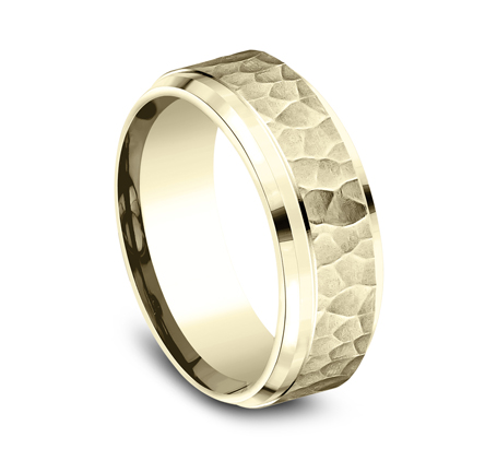 8MM COMFORT FIT CARVED DESIGN BAND CF68490Y 1 - 8MM COMFORT-FIT CARVED DESIGN BAND CF68490Y
