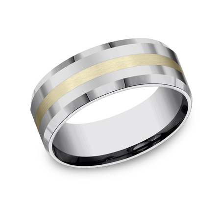 8MM COMFORT FIT TUNGSTEN BAND CF6842618KYTG - 8MM COMFORT-FIT TUNGSTEN BAND CF6842618KYTG