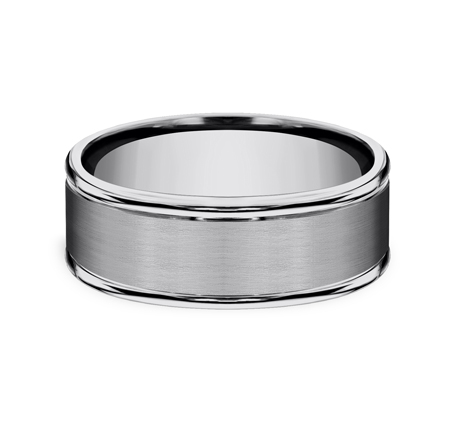 8MM COMFORT FIT TUNGSTEN BAND RECF7802STG 2 - 8MM COMFORT-FIT TUNGSTEN BAND RECF7802STG