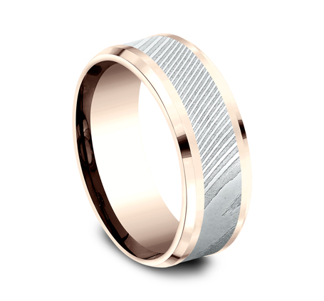 8MM ROSE GOLD DESIGN BAND CF358814DSR 1 - 8MM ROSE GOLD DESIGN BAND CF358814DSR