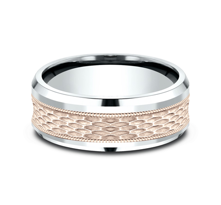 8MM TWO TONE DESIGN BAND CF438497 2 - 8MM TWO TONE DESIGN BAND CF438497
