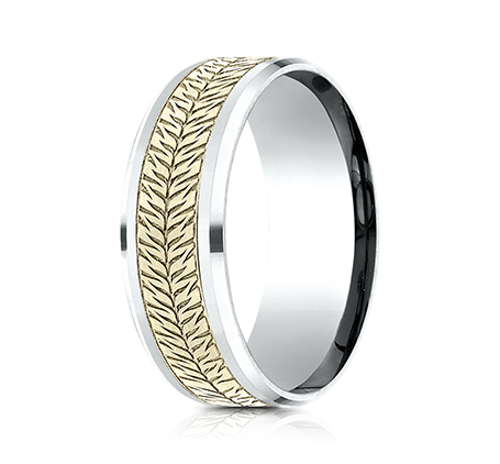 8MM YELLOW GOLD AND WHITE GOLD CF918830 1 - 8MM YELLOW GOLD AND WHITE GOLD CF918830