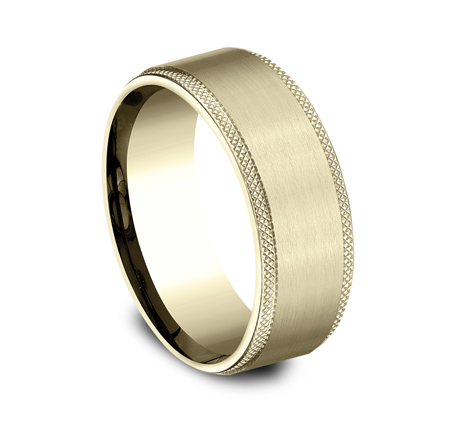 8MM YELLOW GOLD COMFORT FIT BAND CF188749Y 1 - 8MM YELLOW GOLD COMFORT-FIT BAND CF188749Y
