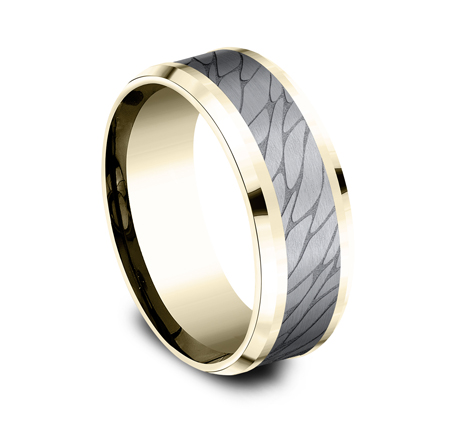 8MM YELLOW GOLD DESIGN BAND CF948815GTAY 2 - 8MM YELLOW GOLD DESIGN BAND  CF948815GTAY
