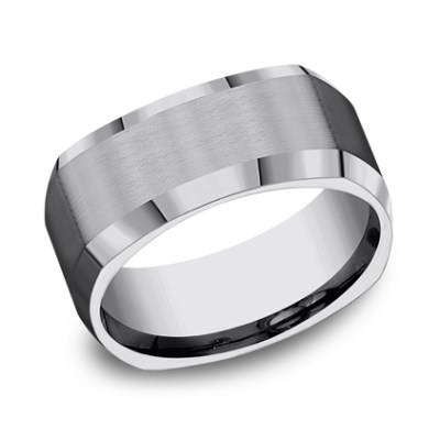 9MM COMFORT FIT TUNGSTEN BAND CF69480TG - 9MM COMFORT-FIT TUNGSTEN BAND CF69480TG