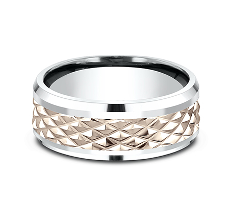 9MM EDGY ROSE GOLD DESIGN BAND CF439679 2 - 9MM EDGY ROSE GOLD DESIGN BAND CF439679
