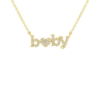 0.10ct 14k Yellow Gold Diamond Baby Heart Pendant SC55006231 - 0.10ct 14k Yellow Gold Diamond Baby Heart Pendant SC55006231