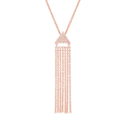 0.11ct 14k Rose Gold Diamond Fringe Pendant SC55003405 - 0.11ct 14k Rose Gold Diamond Fringe Pendant SC55003405