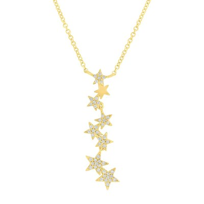0.11ct 14k Yellow Gold Diamond Star Pendant SC55006067 - 0.11ct 14k Yellow Gold Diamond Star Pendant SC55006067