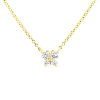 0.19ct 14k Yellow Gold Diamond Butterfly Pendant SC55006277 - 0.19ct 14k Yellow Gold Diamond Butterfly Pendant SC55006277