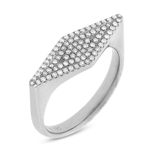 0.25CT 14K White Gold Diamond Pave Ladys Ring SC55001362 - 0.25CT 14K White Gold Diamond Pave Lady's Ring SC55001362