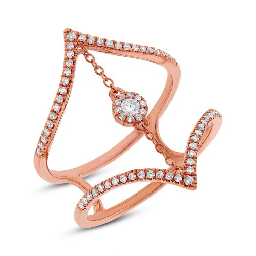 0.26ct 14k Rose Gold Diamond Ladys Ring SC55001808 - 0.26ct 14k Rose Gold Diamond Lady's Ring SC55001808