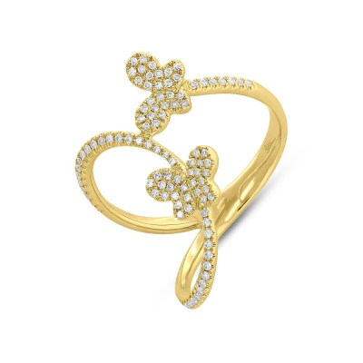 0.26ct 14k Yellow Gold Diamond Butterfly Ring SC55005313 - 0.26ct 14k Yellow Gold Diamond Butterfly Ring SC55005313