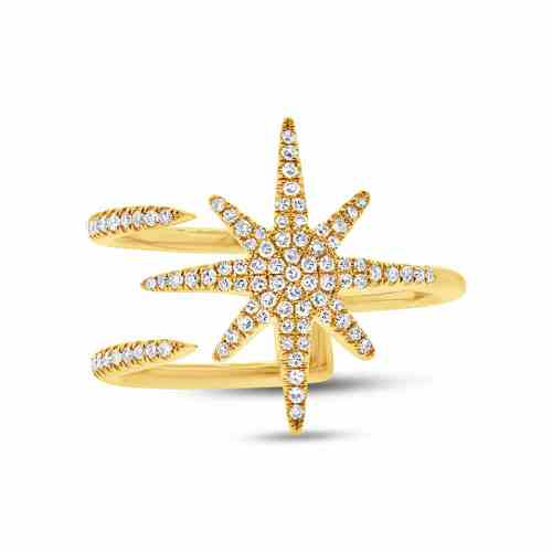 0.26ct 14k Yellow Gold Diamond Ladys Ring SC55002414 1 - 0.26ct 14k Yellow Gold Diamond Lady's Ring SC55002414
