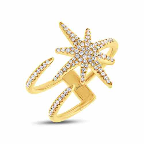 0.26ct 14k Yellow Gold Diamond Ladys Ring SC55002414 - 0.26ct 14k Yellow Gold Diamond Lady's Ring SC55002414