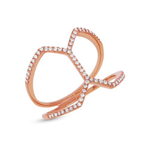 0.29ct 14k Rose Gold Diamond Ladys Ring SC55001234 - 0.29ct 14k Rose Gold Diamond Lady's Ring SC55001234