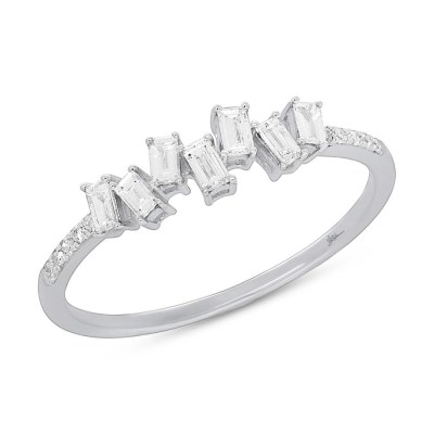 0.29ct 14k White Gold Diamond Baguette Ladys Ring SC36213784 - 0.29ct 14k White Gold Diamond Baguette Lady's Ring SC36213784