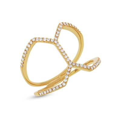 0.29ct 14k Yellow Gold Diamond Ladys Ring SC55001224 - 0.29ct 14k Yellow Gold Diamond Lady's Ring SC55001224