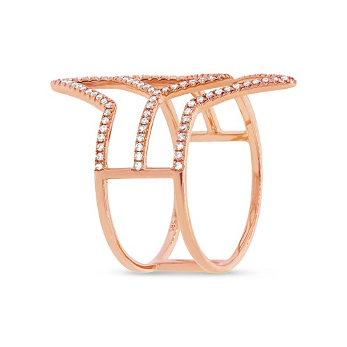 0.31ct 14k Rose Gold Diamond Ladys Ring SC55001596 2 - 0.31ct 14k Rose Gold Diamond Lady's Ring SC55001596