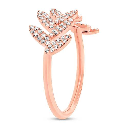 0.31ct 14k Rose Gold Diamond Leaf Ladys Ring SC55003291 2 - 0.31ct 14k Rose Gold Diamond Leaf Lady's Ring SC55003291
