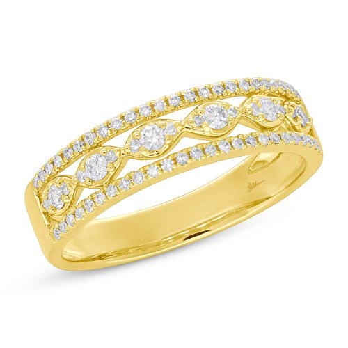 0.31ct 14k Yellow Gold Diamond Ladys Ring SC55005603 - 0.31ct 14k Yellow Gold Diamond Lady's Ring SC55005603
