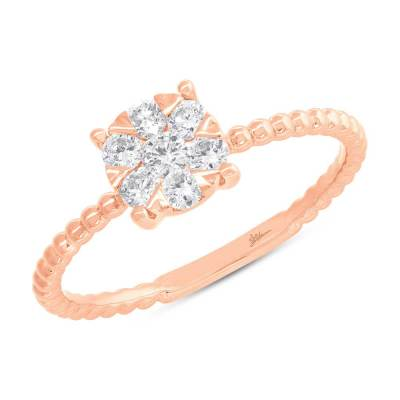 0.35ct 14k Rose Gold Diamond Cluster Ring SC66001251 - 0.35ct 14k Rose Gold Diamond Cluster Ring SC66001251