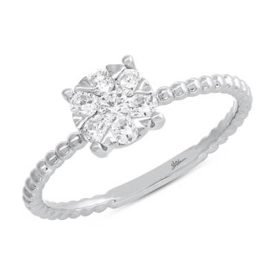 0.35ct 14k White Gold Diamond Cluster Ring SC66001249 - 0.35ct 14k White Gold Diamond Cluster Ring SC66001249