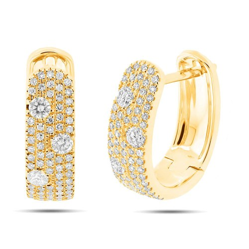 0.56ct 14k Yellow Gold Diamond Huggie Earring SC55004034 - 0.56ct 14k Yellow Gold Diamond Huggie Earring SC55004034