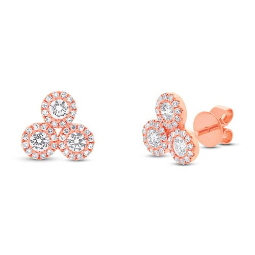 0.68ct 14k Rose Gold Diamond Earring SC55002293 - 0.68ct 14k Rose Gold Diamond Earring SC55002293