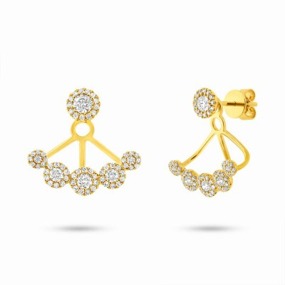 0.80ct 14k Yellow Gold Diamond Earring Jacket with Studs SC55003078 - 0.80ct 14k Yellow Gold Diamond Earring Jacket with Studs SC55003078