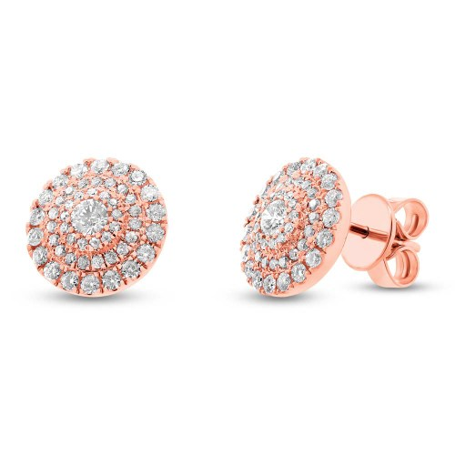 0.93ct 14k Rose Gold Diamond Stud Earring SC55003881 - 0.93ct 14k Rose Gold Diamond Stud Earring SC55003881