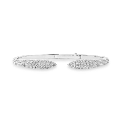 1.08ct 14k White Gold Diamond Pave Claw Bangle SC55001909V5 - 1.08ct 14k White Gold Diamond Pave Claw Bangle SC55001909V5