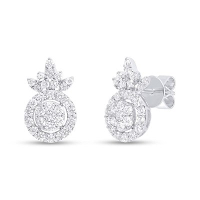 1.16ct 14k White Gold Diamond Stud Earring SC37215685 - 1.16ct 14k White Gold Diamond Stud Earring SC37215685