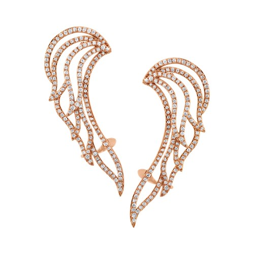 1.61ct 14k Rose Gold Diamond Ear Crawler Earring SC47003692 - 1.61ct 14k Rose Gold Diamond Ear Crawler Earring SC47003692