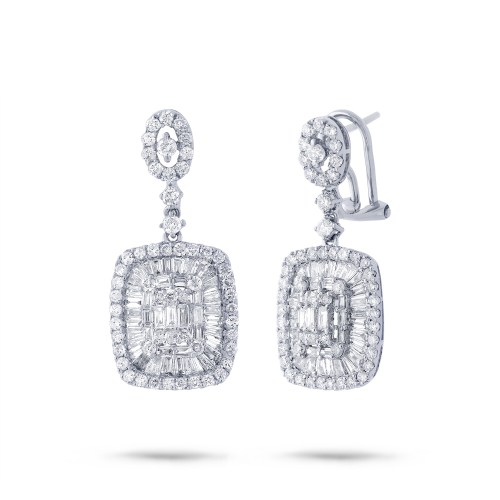 2.93ct 18k White Gold Diamond Earring SC37214808 - 2.93ct 18k White Gold Diamond Earring SC37214808
