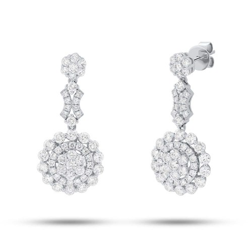 3.30ct 18k White Gold Diamond Earring SC62008842 - 3.30ct 18k White Gold Diamond Earring SC62008842