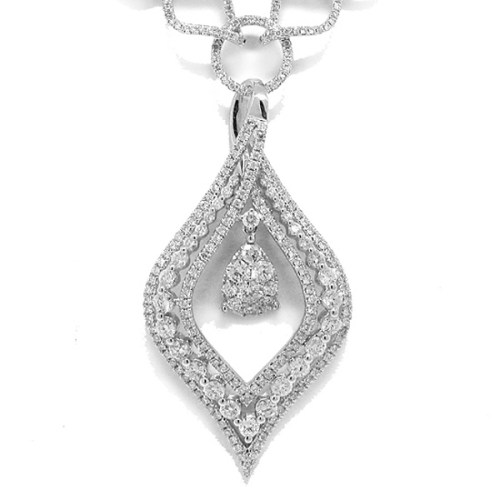 4.08ct 14k White Gold Diamond Necklace SC22002977 1 - 4.08ct 14k White Gold Diamond Necklace SC22002977